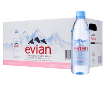 Evian 500ml Thùng 24 chai