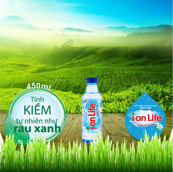 Nước Ion Life 450ml, Thùng nước suối Ion Life 450ml (24 chai / Thùng)