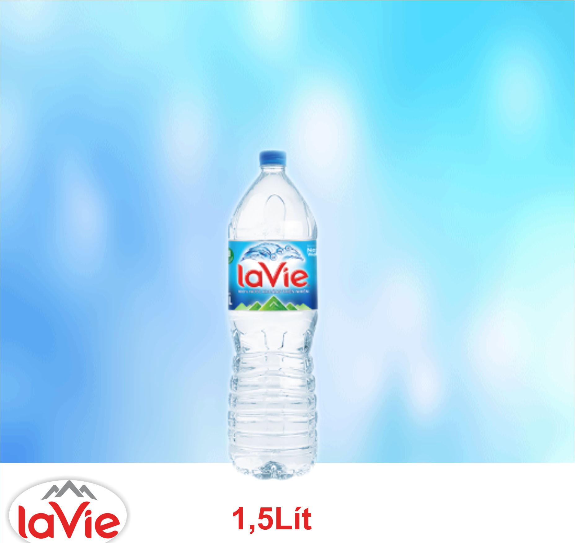 Nước suối LaVie 1.5 l, Thùng LaVie 1.5 l miễn phí giao nhanh tận nơi