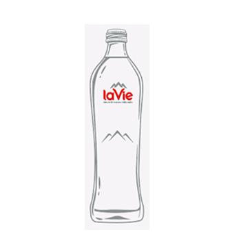 Nước suối chai thủy tinh LaVie glass