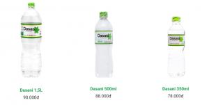 Nước suối Dasani