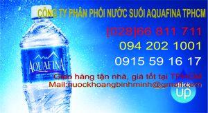 Phân phối nước suối Aquafina