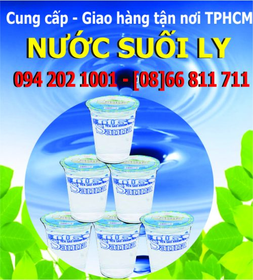 Nước suối uống đóng ly nhựa hộp nhỏ Sanna